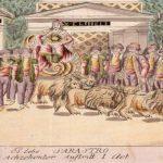 un char tiré par des lions