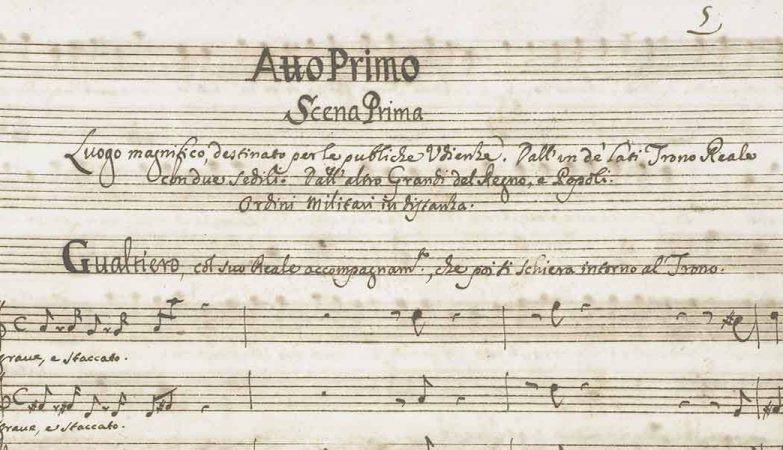 manuscrit de scarlatti compositeur des 550 sonates pour clavecin