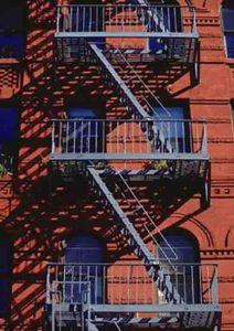 les escaliers de l'affiche de west side story