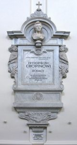 cénotaphe contenant le coeur de Chopin dans la cathédrale de Varsovie